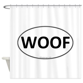 WOOF Euro Oval Shower Curtain