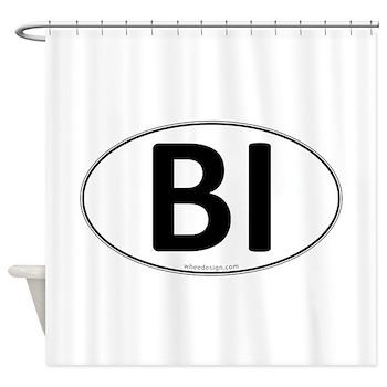 BI Euro Oval Shower Curtain