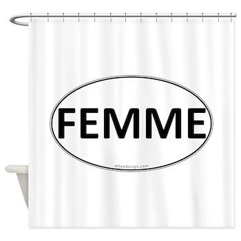 FEMME Euro Oval Shower Curtain