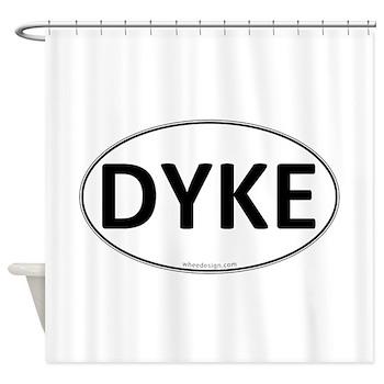 DYKE Euro Oval Shower Curtain