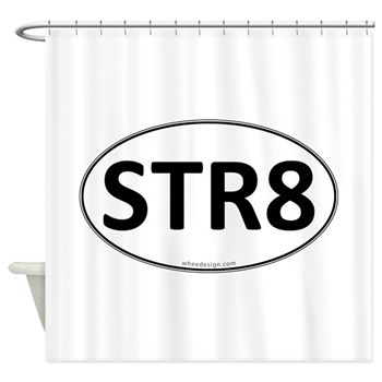 STR8 Euro Oval Shower Curtain