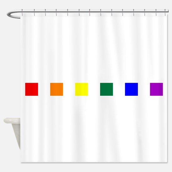 Rainbow Pride Squares Shower Curtain