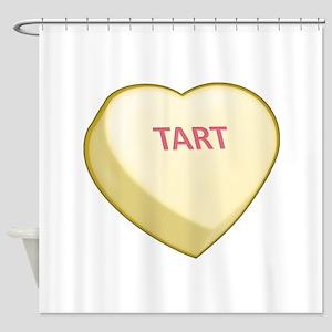 Tart Candy Heart Shower Curtain