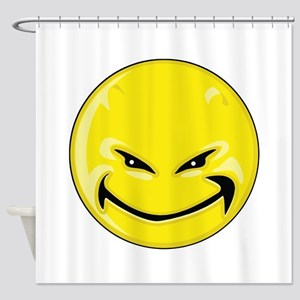 Smiley Face - Yellow Devil Shower Curtain
