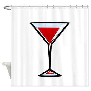 Vampire Martini Shower Curtain