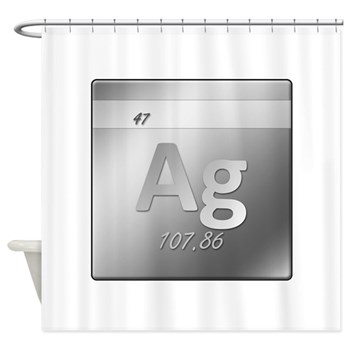 Silver (Ag) Shower Curtain