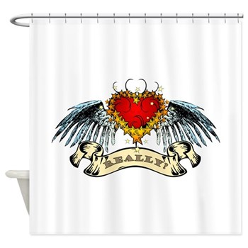 Really? Winged Heart Shower Curtain