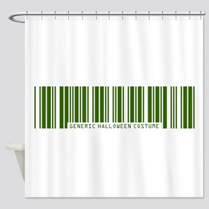 Generic ZOMBIE Costume Barcod Shower Curtain