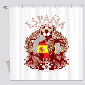 Espana Soccer Shower Curtain