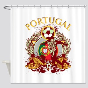 Portugal Soccer Shower Curtain