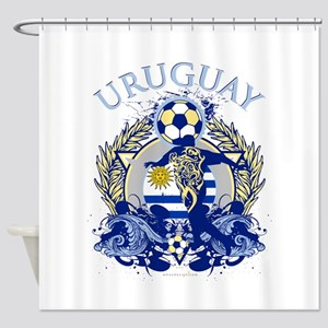 Uruguay Soccer Shower Curtain