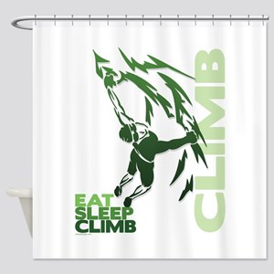 Eat Sleep Climb Shower Curtain