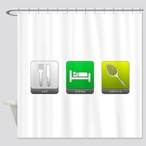 Eat, Sleep, Tennis Shower Curtain