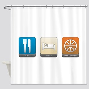Eat, Sleep, Basketball Shower Curtain