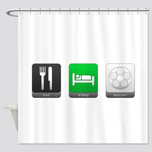 Eat, Sleep, Soccer Shower Curtain