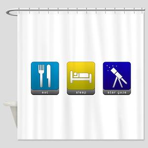 Eat, Sleep, Stargaze Shower Curtain