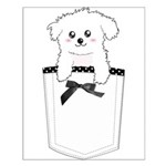 Cute puppy dog in pocket Small Poster