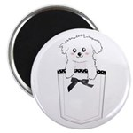 Cute puppy dog in pocket Magnet