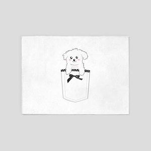 Cute puppy dog in pocket 5'x7'Area Rug