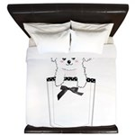 Cute puppy dog in pocket King Duvet