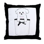 Cute puppy dog in pocket Throw Pillow
