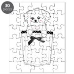 Cute puppy dog in pocket Puzzle