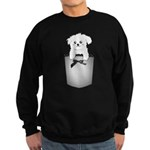 Cute puppy dog in pocket Sweatshirt (dark)
