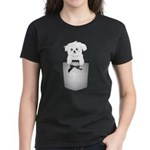 Cute puppy dog in pocket Women's Dark T-Shirt