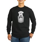 Cute puppy dog in pocket Long Sleeve Dark T-Shirt