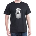 Cute puppy dog in pocket Dark T-Shirt