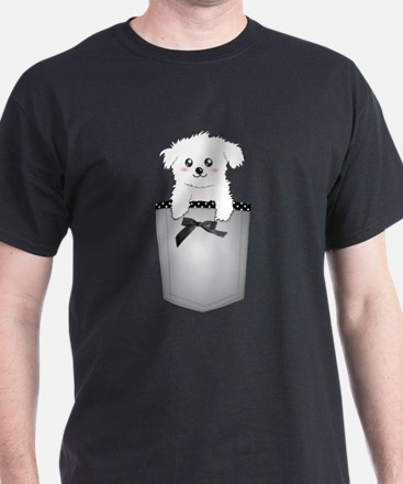 Cute puppy dog in pocket T-Shirt