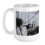 Heron Dropping In Large Mug