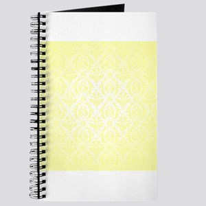 Yellow Faded Damask Journal