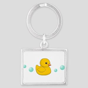 Rubber Duck Landscape Keychain