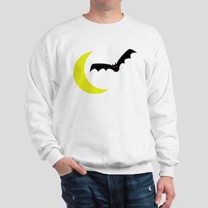 Moon and Bat Sweatshirt for Halloween