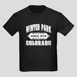 Winter Park Since 1978 White Kids Dark T-Shirt