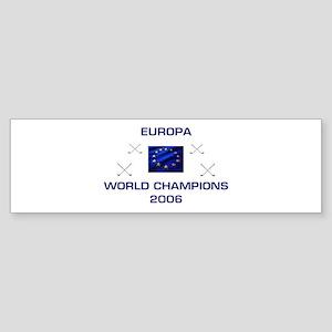 Europa - Golf Champions 2006 Bumper Sticker