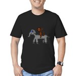 Monkey and Elephant shirt design Men's Fitted T-Sh