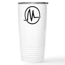 Black Logo Graphic Stainless Steel Travel Mug