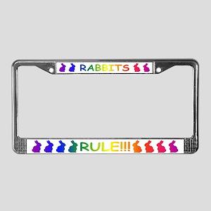 Rabbits Rule License Plate Frame