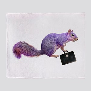 Purple Squirrel Throw Blanket