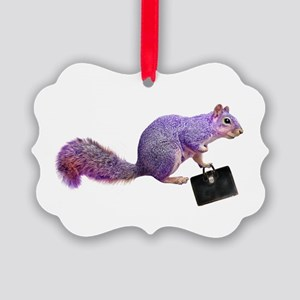 Purple Squirrel Picture Ornament