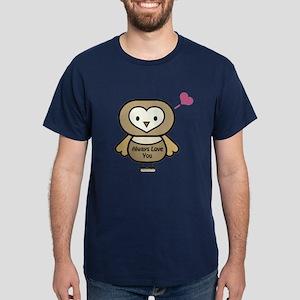Owl Always Love You Valentines Day Dark T-Shirt