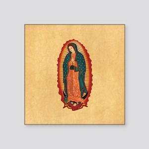 "Virgin Of Guadalupe Square Sticker 3"" x 3"""