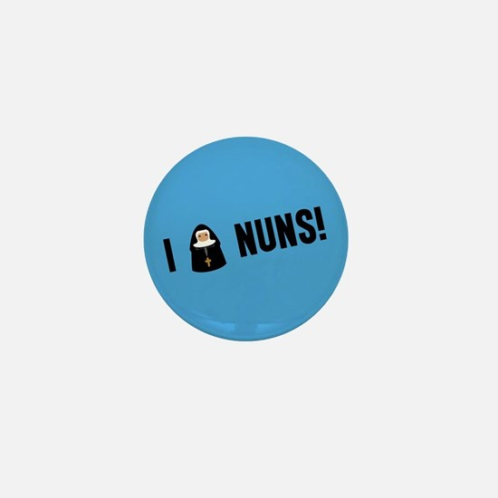 I Love Nuns Mini Button