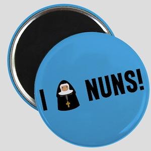 I Love Nuns Magnet
