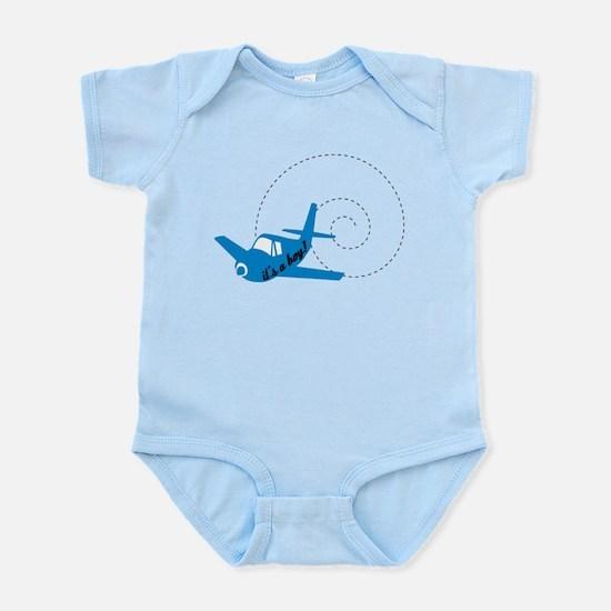 Airplane Its a Boy Infant Bodysuit