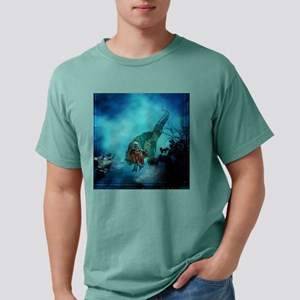 Awesome t-rex with armor Mens Comfort Colors Shirt