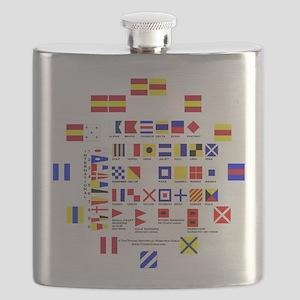 Nautical Flags Flask