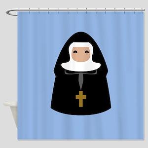 Cute Nun Shower Curtain